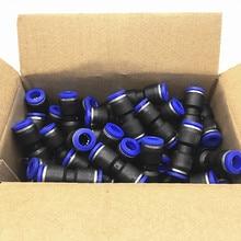Unids/paquete de Accesorios Neumáticos de PU Tipo I Conector recto de 2 vías para tubo de 4mm 6mm 8mm 10mm 12mm 100