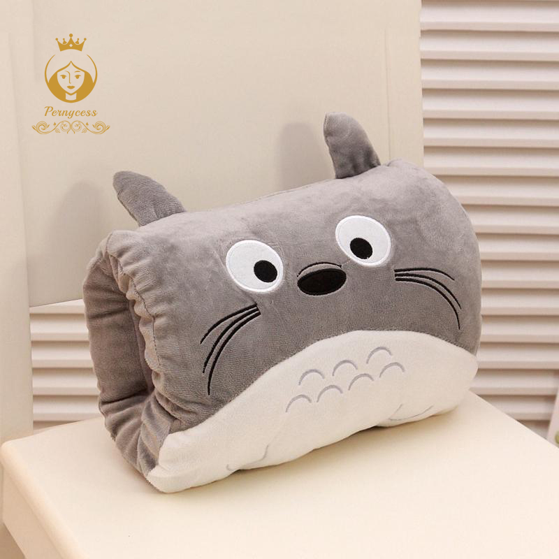Cartoon Totoro warm winter hand warmer pillow warm hand plush toys Girls Valentine's Day gift 1pc kids cute gift winter cartoon plush toys hand warmer cartoon animals soft pillow hand hold warm christmas cushion gift 45