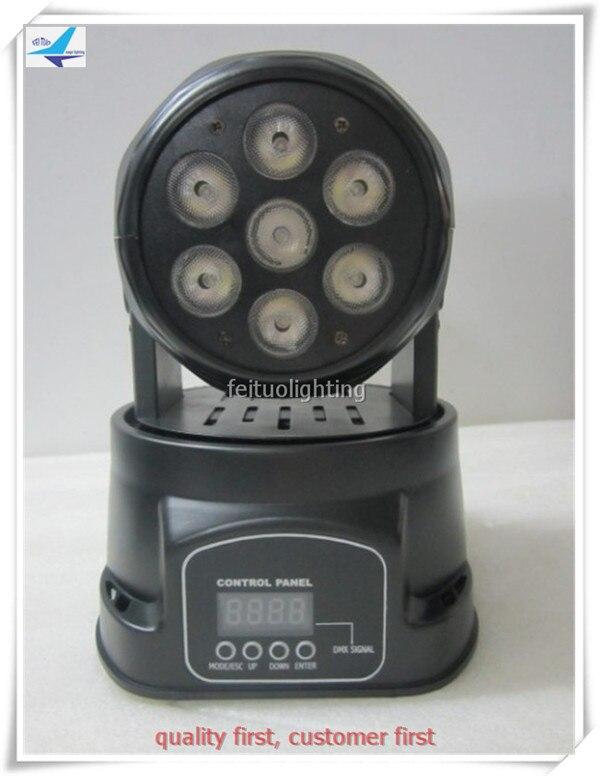 Бесплатная доставка (4 шт./лот) <font><b>7&#215;12</b></font> светодиодный мини перемещение головы мыть свет