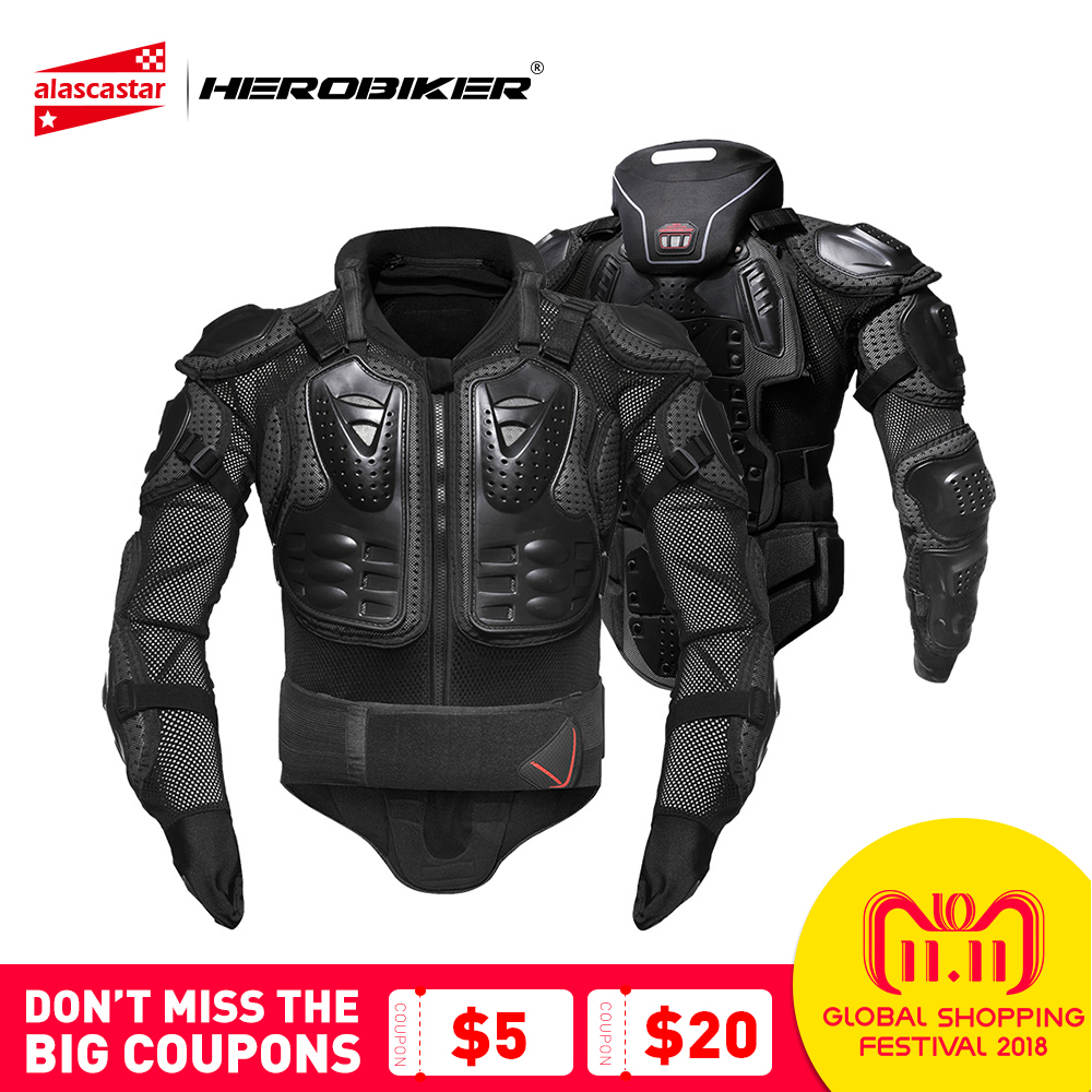 HEROBIKER Motorcycle Armor Protection Protective Gear Body Protector Jacket Motocross Motorbike Moto Jackets With Neck Protector herobiker armor removable neck protection guards riding skating motorcycle racing protective gear full body armor protectors