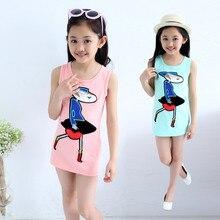 Girls Children Wear T-shirts Casual Summer Kids Clothing Cartoon Print Pink Blue Rose Red