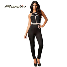 Plardin Macacao Feminino Overalls Summer 2016 Sexy Modern Slim Fit Sleeveless Jumpsuit Pants LC6289 Bodycon ONeck Casual Rompers