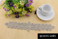 Free Shipping 2014 New Beaded Appliques Motif Rhinestone Patch Bridal RT008