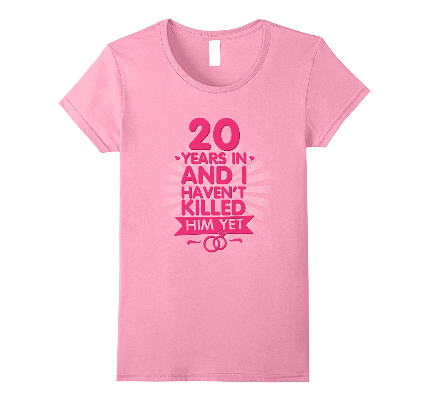 20 Year Wedding Anniversary Gift For Wife: 20 Years Of Marriage T Shirt. 20th Anniversary Gift For
