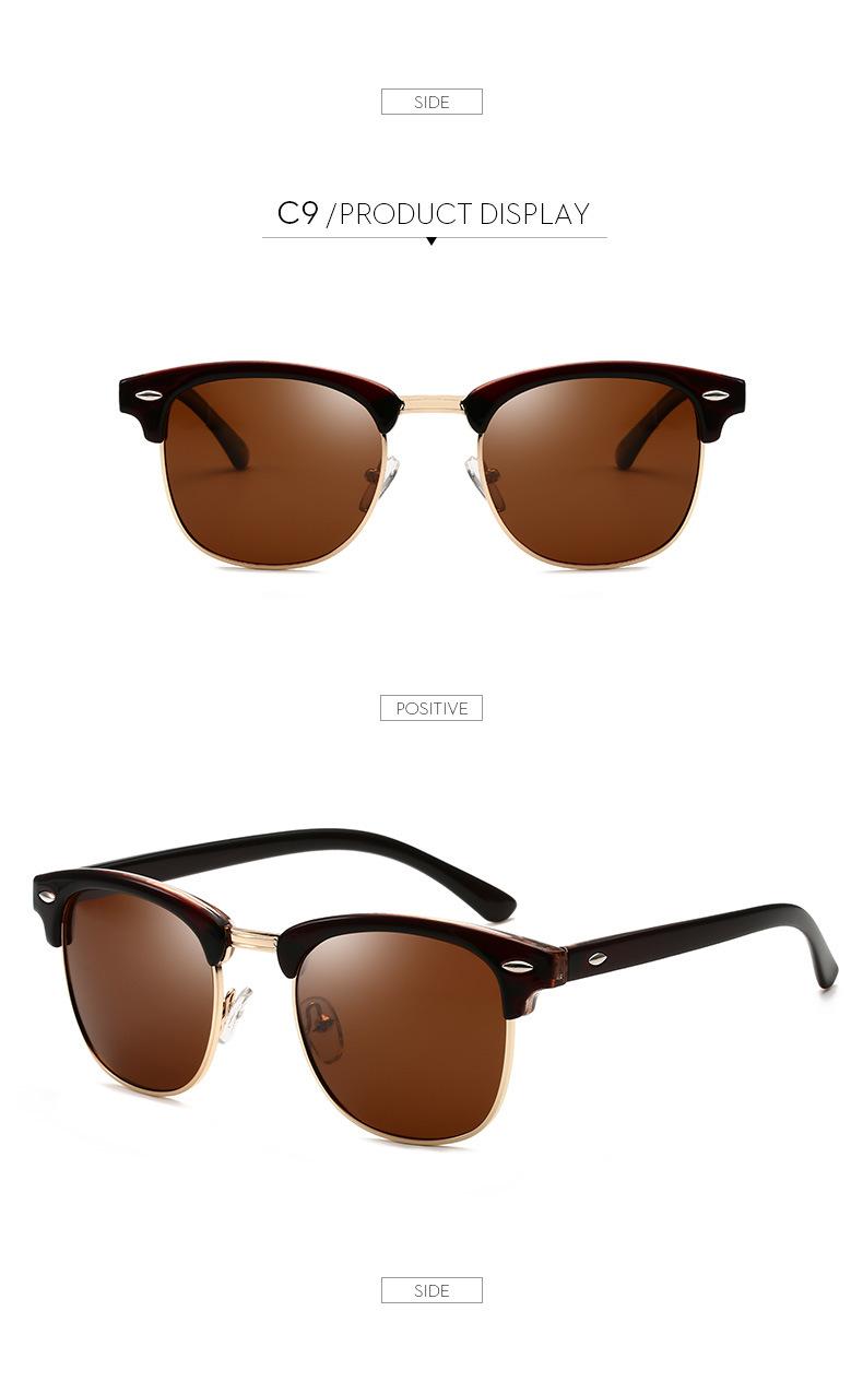 Polarized Sunglasses Men Women RB3016 Brand Design Eye Sun Glasses Women Semi Rimless Classic Men Sunglasses Oculos De Sol UV400 15
