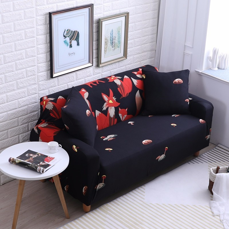 Stupendous Us 4 99 50 Off Cute Red Fox Print Spandex Sofa Cover Small Mushroom Couch Cover All Inclusive Couch Cover Furniture Protector 1 2 3 4 Seater In Sofa Alphanode Cool Chair Designs And Ideas Alphanodeonline