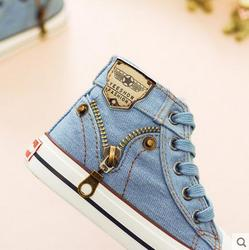2019 Autumn Expert Skill Children Casual Shoes Boys Girls Sport Shoes Breathable Denim Sneakers Kids Canvas Shoes Baby Boots 3
