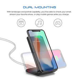 Image 4 - DCAE Qi Wireless Charger Stand for iPhone 11 X XS 8 XR Airpods Samsung S9 S10 Note 9 10W Fast Charge Quick Charging Dock Station