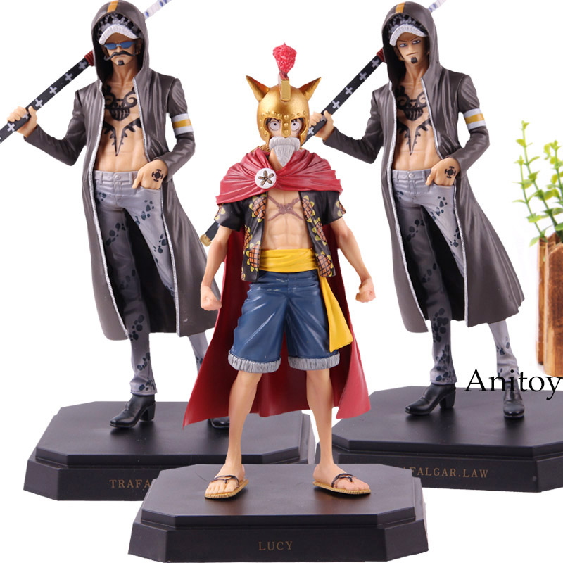Action Figure <font><b>One</b></font> <font><b>Piece</b></font> <font><b>Ichiban</b></font> <font><b>Kuji</b></font> Trafalgar Law Monkey D Luffy Dressrosa PVC Collection Model Toys image