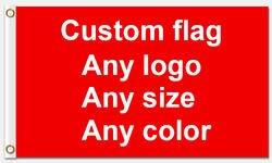 Индивидуальный флаг 90*150 см любого цвета любого логотип как ваш запрос с белым рукавом металлические люверсы