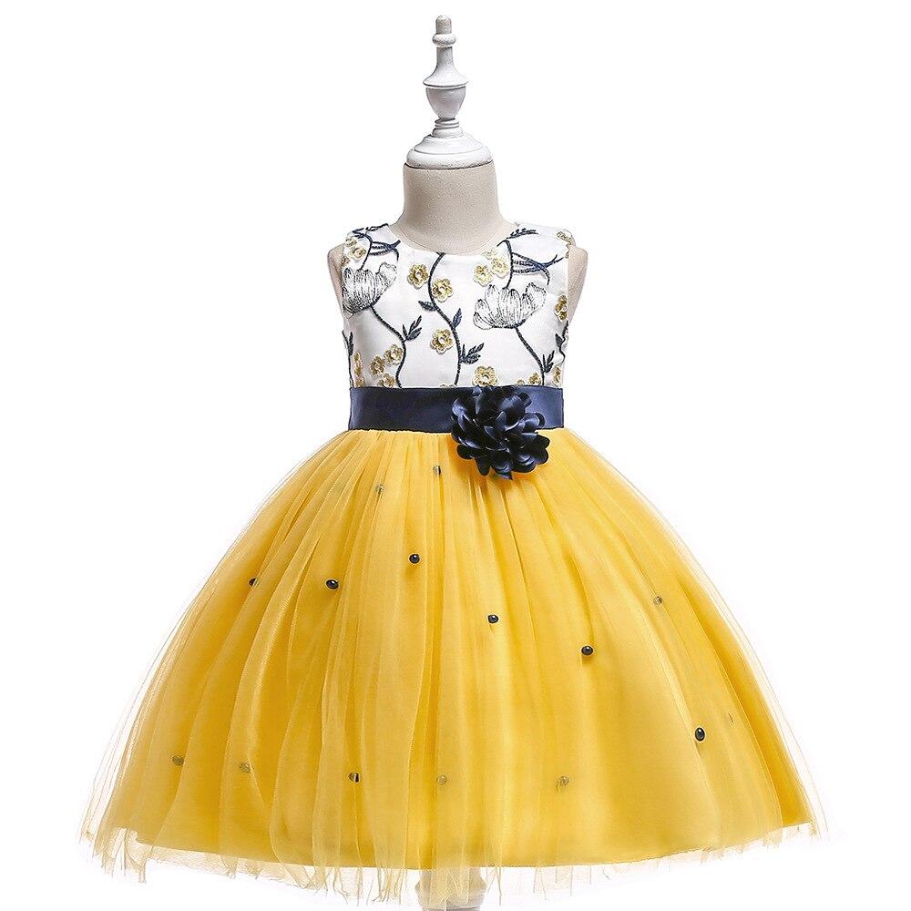 Butterfly Lace   Flower     Girl     Dresses   2019 Blue White Gold Little   Girls   Pageant   Dresses   Kids Prom   Dresses   vestido de daminha