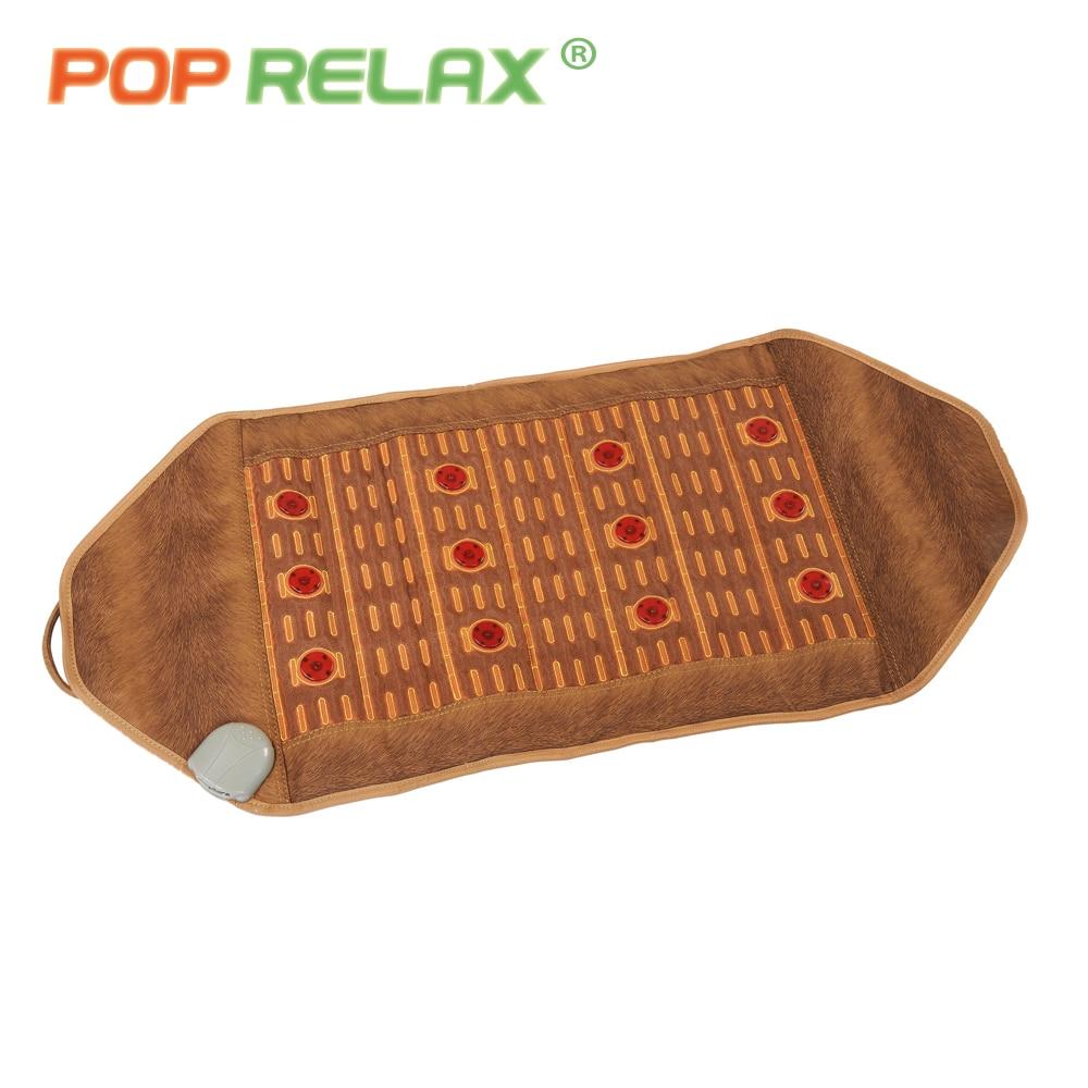 ᗖPop relax 110 V salud masaje colchón de piedra rojo Photon Light