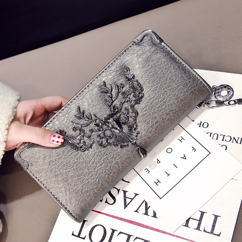 DALFR PU Leather Wallet Womens Leather Purses Ladies Designer Clutches Bag Women Luxury Handbags Women Bags Designer