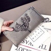 DALFR PU Leather Wallet Womens Leather Purses Ladies Designer Clutches Bag Women Luxury Handbags Women Bags Designer