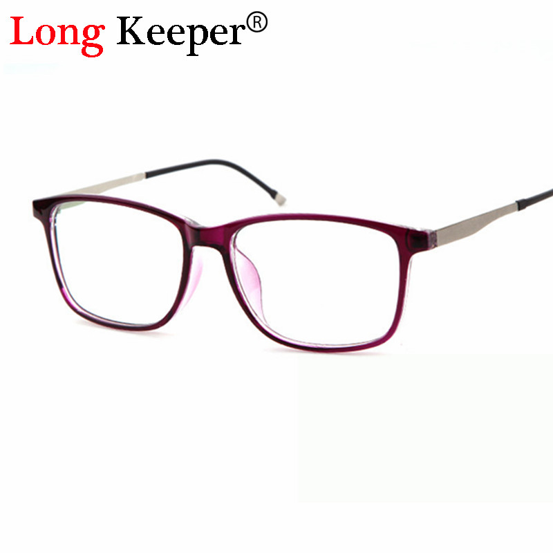 Long Keeper Brand Computer Women Men Eyeglasses Frame Most Popular Square Glasses Clear Eyeglasses PSTY9066L with free shipping
