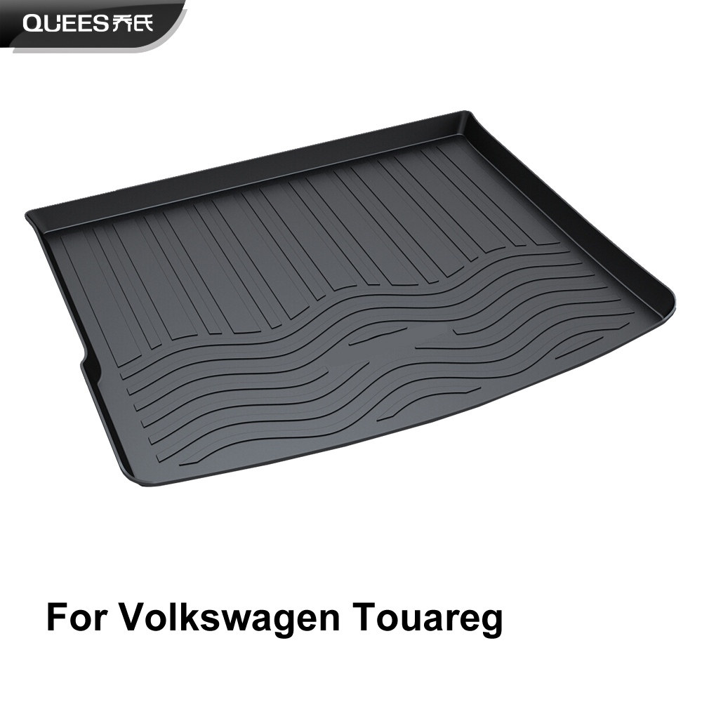 QUEES Custom Fit Cargo Liner Tray Mat for Volkswagen Touareg 2006 2007 2008 2009 2010 2011