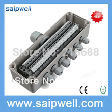 Saipwell waterproof plastic junction box cable terminal box power supply junction box IP65 80*250*85mm type DS-AT-0825-1