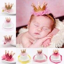 Girl s Head Accessories Hairband font b Baby b font Shiny Cute Princess Children Tiara Hair