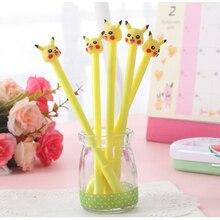 60pcs/set Kawaii Gel Pen Cute Pokemon Pens for School Office Supplies Students Kids Stationary Girls Gift Items Bulk