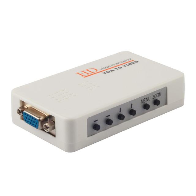 Nuevo Ordenador Portátil PC VGA a TV AV RCA S-video Adaptador Convertidor de la Caja Caliente de La Promoción