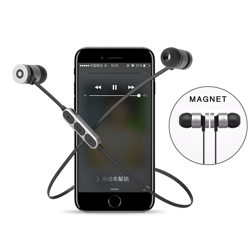 Magnetic HIFI Sport Bluetooth Headphone with Mic Wireless Headphones Earphones In Ear Auriculares Audifonos Handsfree Earphone 1
