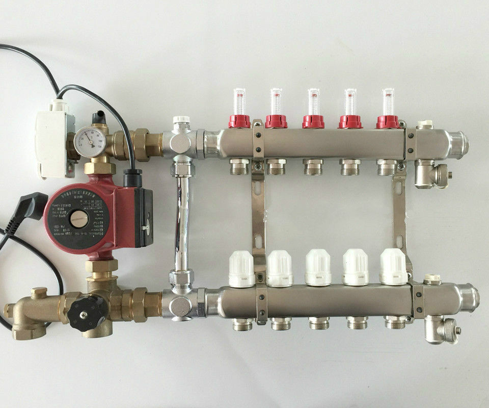 Underfloor Heating Manifold 5 Port Amp Rated Pump For Room