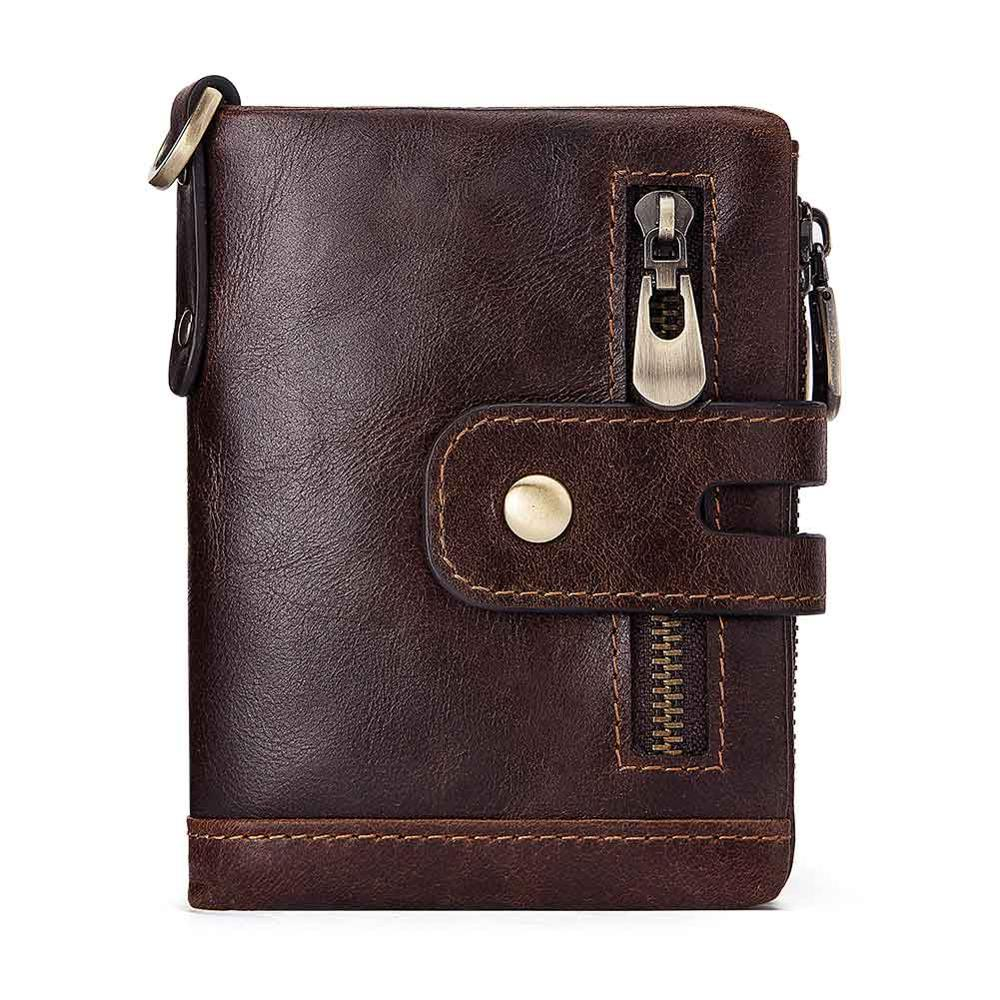 2019 Vintage Man Wallet Genuine Leather Short Wallets Male Multifunctional Cowhide Purse Gift Coin Pocket Portomonee