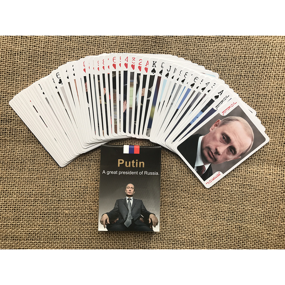 Russia President Putin Playing Cards Vladimir Vladimirovich Putin 54 Pieces Artistic Poker Cards For His Fans Collection or Gift