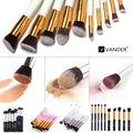 Vander (10 peças/set) Cabelo Sintético Pincéis de Maquiagem Profissional Define Fundação Make Up Ferramentas de Escova Cosméticos Sombra Em Pó