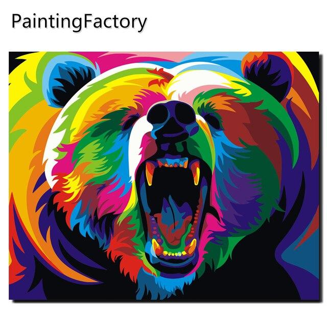 Angry Gấu Sơn bằng Số Bộ Dụng Cụ Coloring By Numbers On Canvas Trang Trí Hình Ảnh Hình Ảnh Tường Hình Ảnh đối với Living Room Tóm Tắt Hình Ảnh