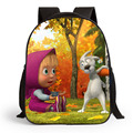 Hight Quality 1-3 Years Old Cartoon Masha and Bear School Bags Small Backpack Kids Kindergarten Bag Mochila Free Shipping