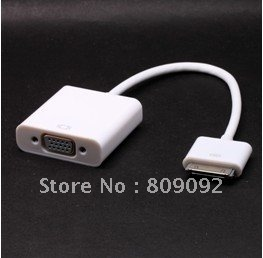 High Quality Dock Connector for Apple New iPad 3rd to VGA Adapter Cable HDTV LCD цена и фото