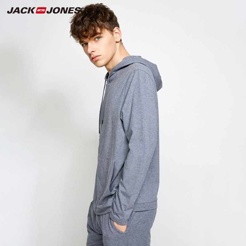JackJones 男性のライトパーカー Sweatershirt 薄型プルオーバートップホームウェア 2183HE503
