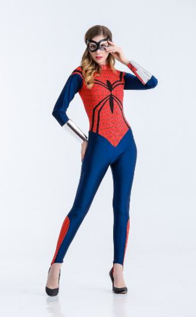 2018 High Quality Spider-Man Dress Cosplay Costume Carnaval Halloween Costumes Jumpsuit Spider-Man Cosplay