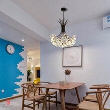 Luces colgantes de la serie Dandelion, lámpara colgante decorativa artística con forma de rama y bola, incluyen bombillas LED G4, vestíbulo, cafetería, sala de estar