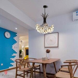 Image 1 - Luces colgantes de la serie Dandelion, lámpara colgante decorativa artística con forma de rama y bola, incluyen bombillas LED G4, vestíbulo, cafetería, sala de estar