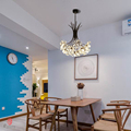 Paardebloem Serie Opknoping Lichten Art Decoratieve Hanglamp Tak & Ball Vorm Omvatten LED G4 Lampen Foyer Cafe Woonkamer licht
