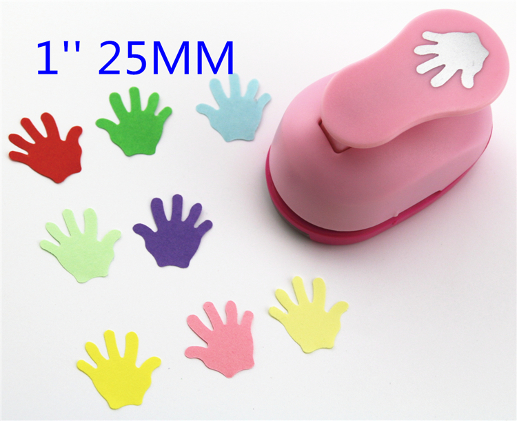 Free Ship Palm Hand 1'' 25mm Diy Craft Punch Hole Punch Scrapbook Paper Cutter Hole Punch Child Embosser Device Perfurador S2991