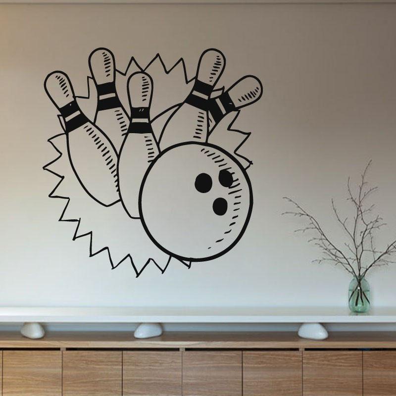 juegos de bolos zooyoo pegatinas de pared arte de la pared de diseo de interiores decoracin