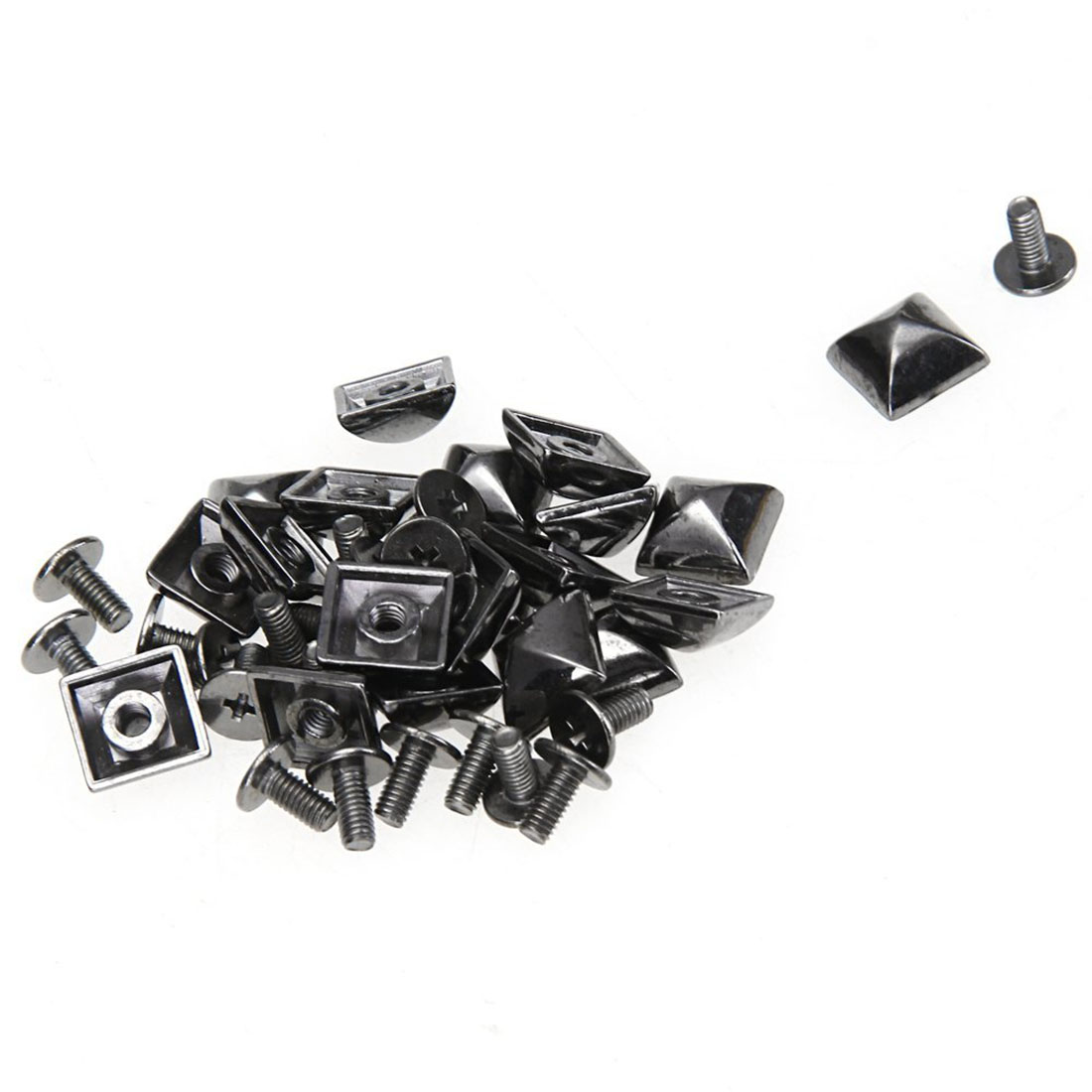 10 x Pyramid Decorative rivets 3 colors easy set-up Leather craft