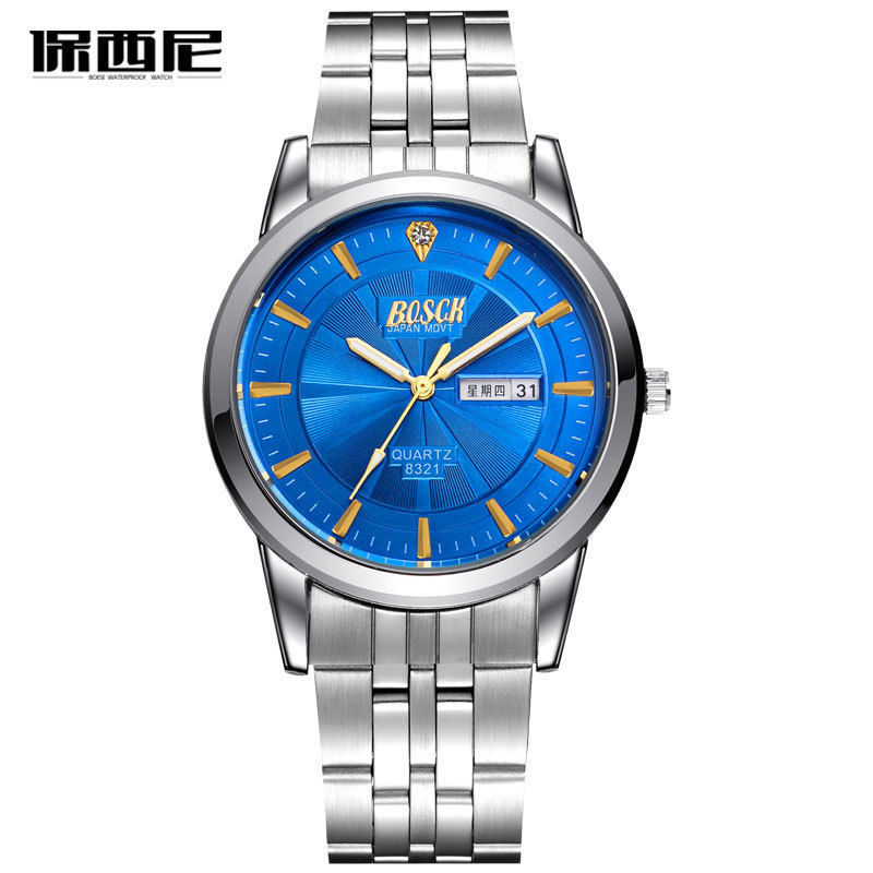 Man Watches Casual Fashion WristWatch Business Men Stainless Steel Waterproof Quartz Watch Men's Gifts Silver Relogio Masculino ysdx 398 fashion stainless steel self stirring mug black silver 2 x aaa