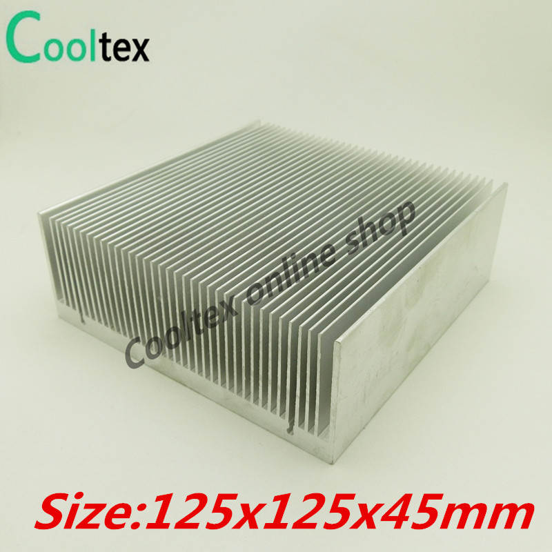 High power 125x125x45mm Aluminum HeatSink Heat Sink radiator for electronic Chip LED  COOLER cooling Recommended 10pcs lot ultra small gvoove pure copper pure for ram memory ic chip heat sink 7 7 4mm electronic radiator 3m468mp thermal