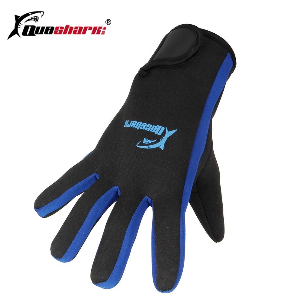 Queshark 1.5mm Big Size Men Women Neoprene Scuba Diving Gloves Snorkeling Swimming Gloves Anti-scratch Warm Diving Equipment