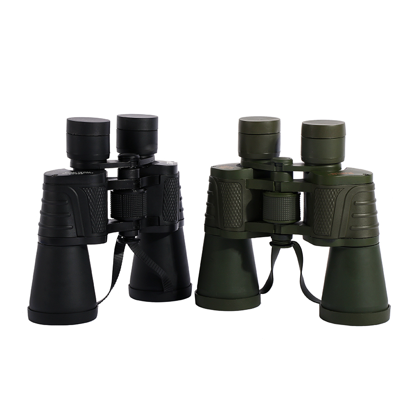 High Quality Classic binoculars 20X50 HD Wide Angle BAK4 Prism binoculars telescope for Outdoor Travel Hunting Sightseeing esdy 3013 20 x 50 magnification wide angle clear binoculars telescope black