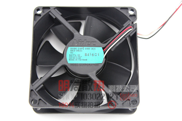 8025 8CM hydraulic alloy bearing 24V0.13A inverter fan D08K-24PU