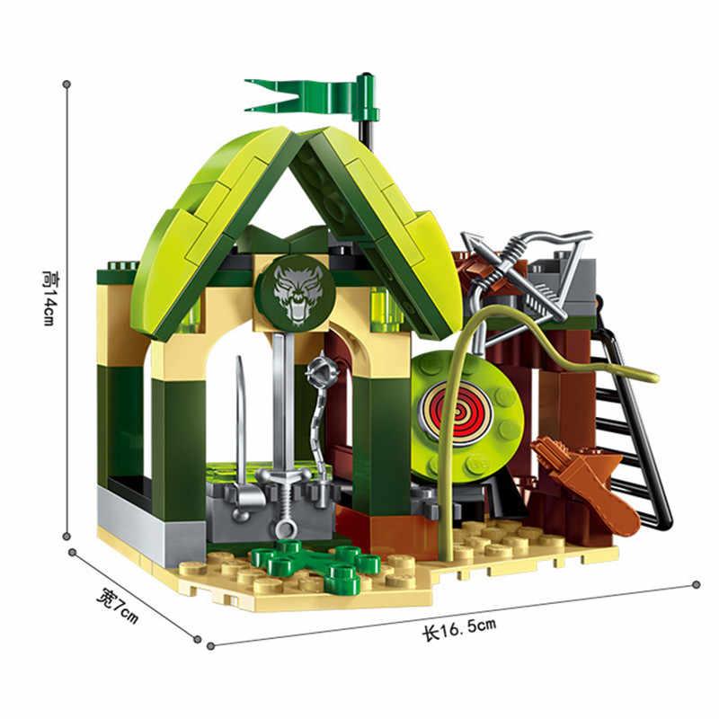 112pcs Guerra di Gloria Castello dei Cavalieri Elfin Gamma Building Blocks Imposta LegoINGLs Juguetes Casa Figure Giocattoli Dei Mattoni per I Bambini