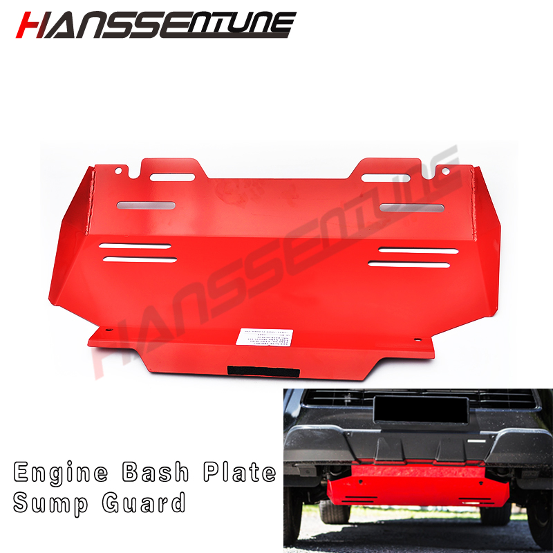 HANSSENTUNE 4X4 Accessories 3.5mm Front Guard Engine Protection Skid Plate For Hilux Revo 2015+-in Protective Frames from Automobiles & Motorcycles