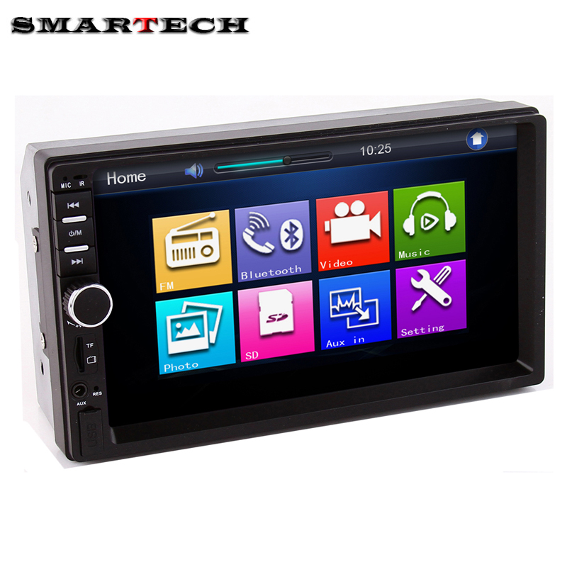 2 Din Car Multimedia Player Universal 7 Inch Audio Stereo Touch Screen Car Video MP5 Player USB FM Radio AUX Bluetooth Camera 7 hd bluetooth touch screen car gps stereo radio 2 din fm mp5 mp3 usb aux z825