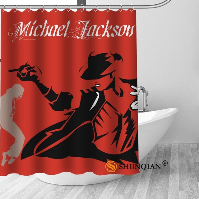 8 Michael jackson shower curtain washable thickened 5c64f7a44eda9