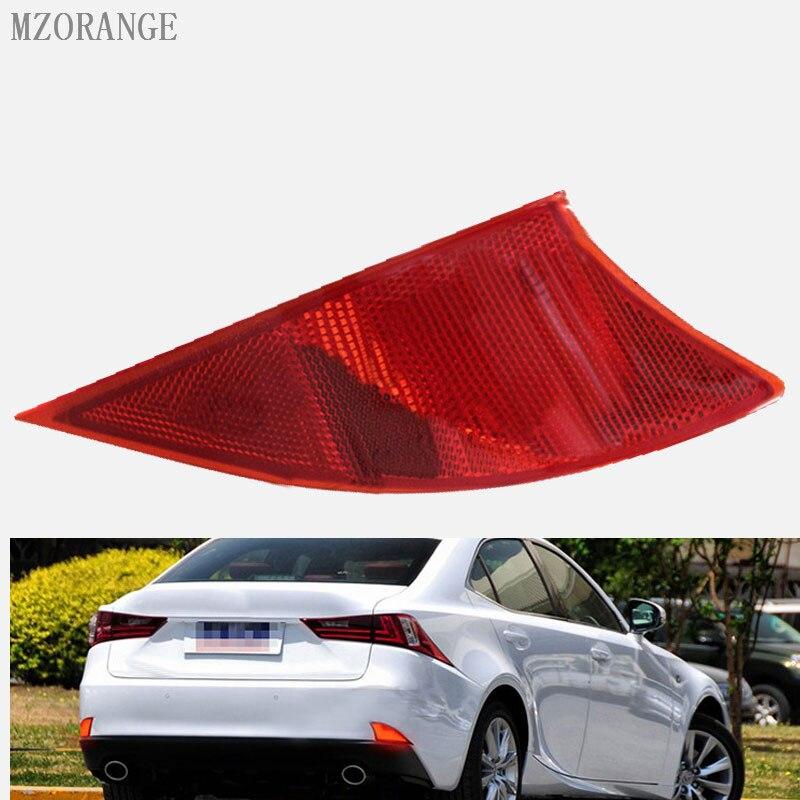 MZORANGE 2x Rear LED Bumper Reflector Red Lens Stop Tail Rear Brake Light lamp Red 2014 2015 13 16 for Lexus IS 250 350 XE30 for vw golf gti 7 vii mk7 2014 2015 red lens led rear bumper reflector light lamp